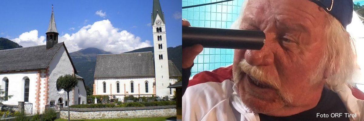Herr Reindl und das Kirchendach (c) ORF Tirol